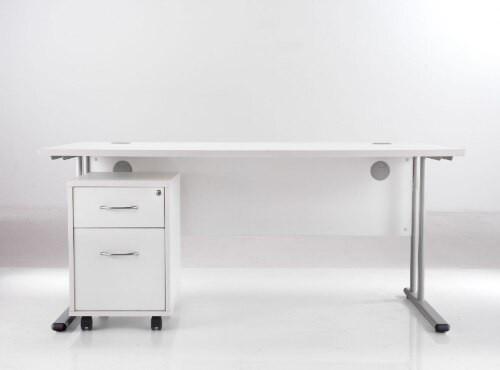 Sorrento Rectangular Desk Workstation 1400mm Wide  & Mobile Pedestal