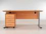 Sorrento Rectangular Desk Workstation 1200mm Wide & Mobile Pedestal