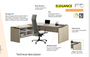 Elegance Executive Straight Desk