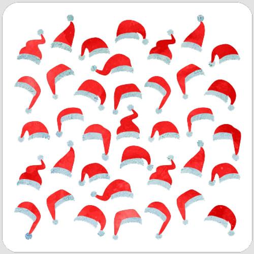 Layered Santa Hats Stencil