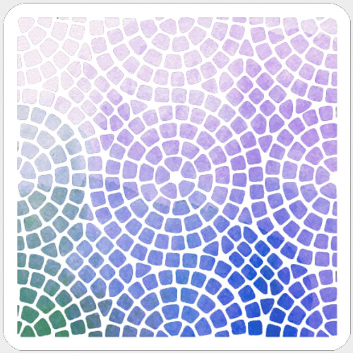 Circle Mosaic Stencil