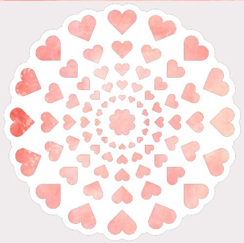 018136 - Heart Doily