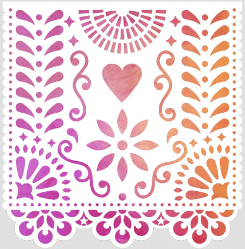 018190 - Papel Picado Heart
