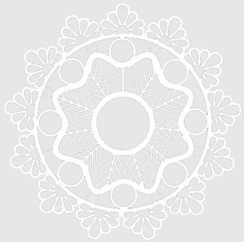 018113 - Pine Sprig Doily