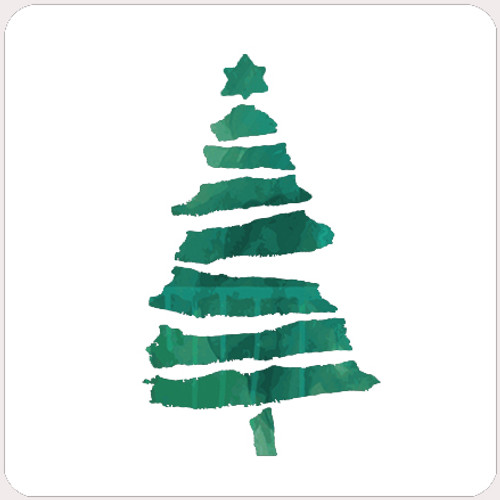 018172 - torn Paper Christmas Tree