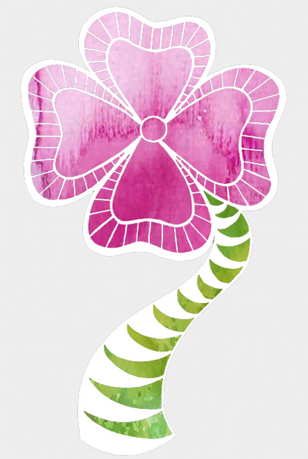 018224 - Striped Flower