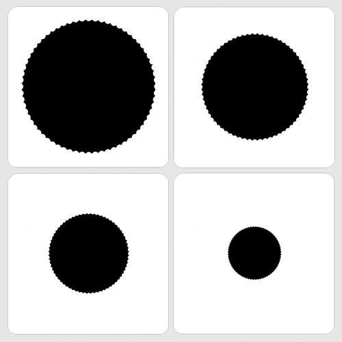 020115 - Marvelous Masks Inside Scallop Circle