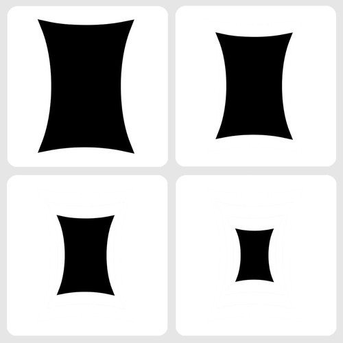 020144 - Marvelous Masks Squeezed Rectangle