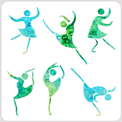 020199 - Joyful Women Stencil