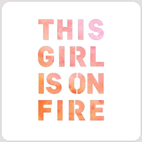 020200 - On Fire Stencil