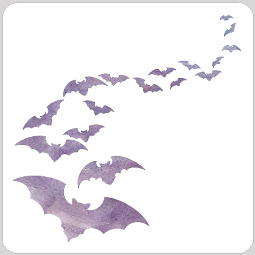 Bat Flight Stencil