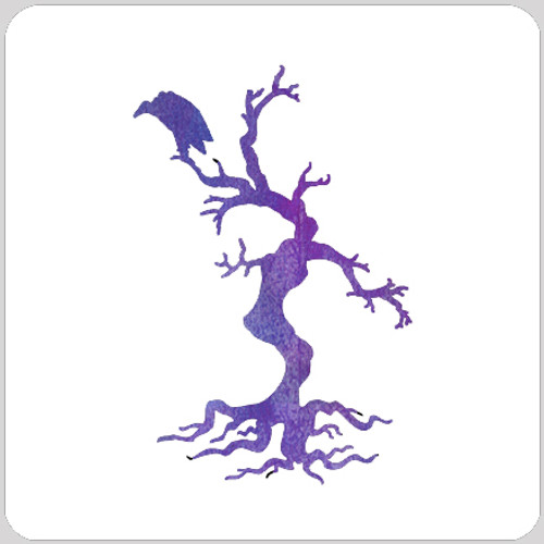 Buzzard Tree Stencil