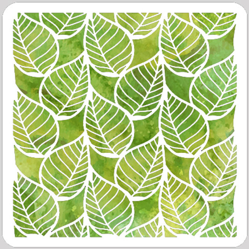 Orderly Leaves Stencil