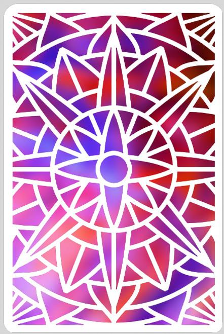 Aztec Sun Stencil