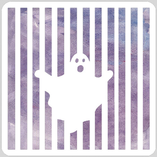 Striped Ghost Stencil