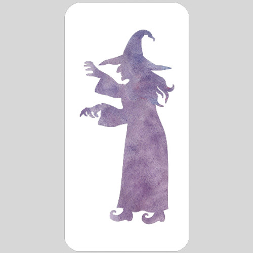 Scary Witch Stencil