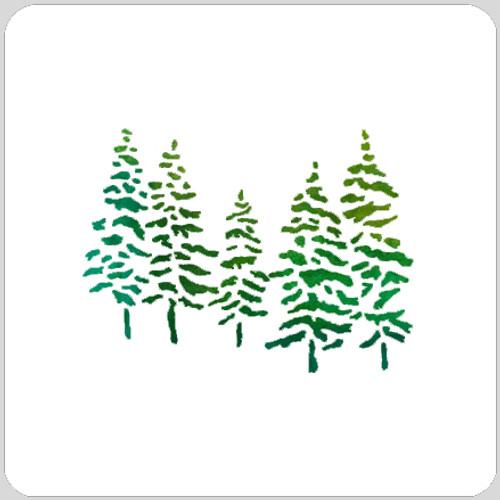 Snowy Tree Stencil