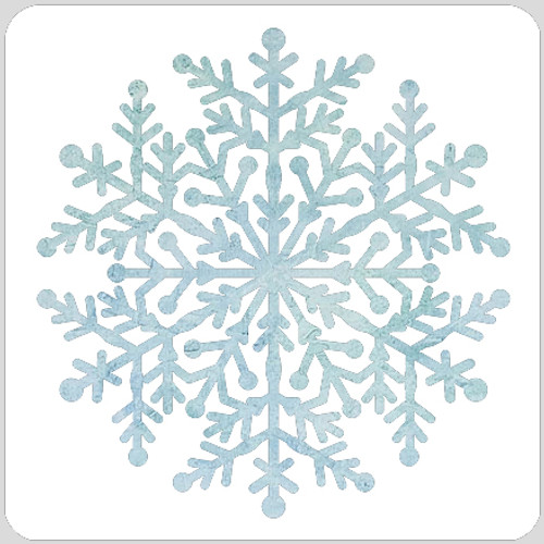 Icy Snowflake Stencil