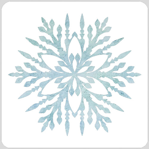 Crystal Snowflake Stencil