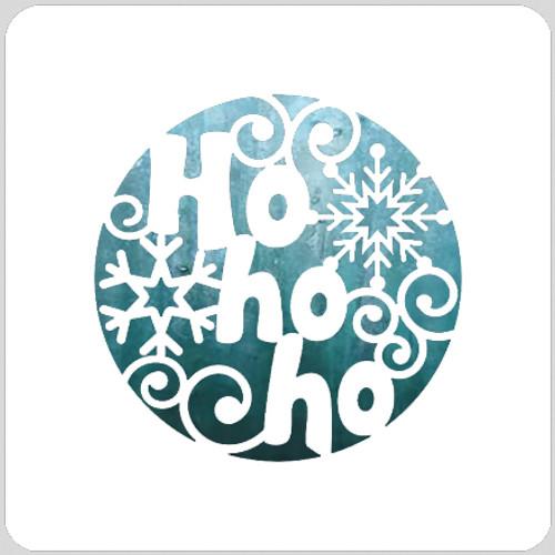 Ho Ho Ho Circle Stencil