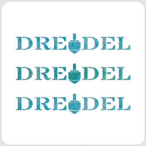 Dreidel Song Stencil