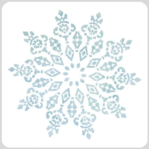 Vintage Snowflake Stencil