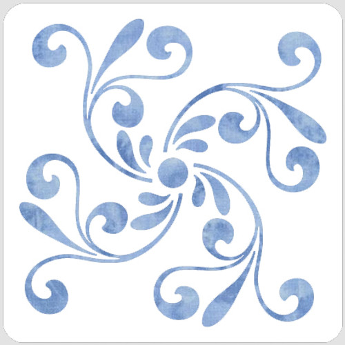 Notre-Dame Swirl Stencil