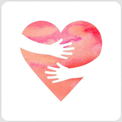 Heart Hug Stencil
