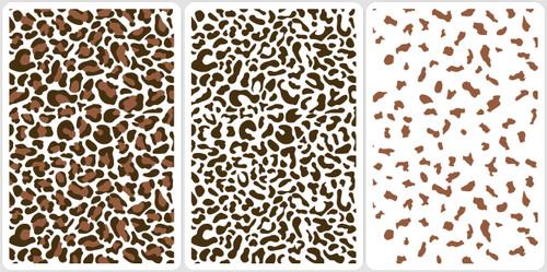 Layered Leopard Stencil