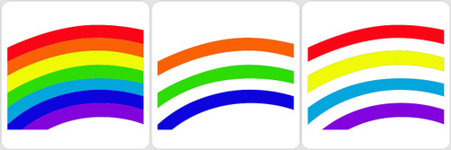 Layered Rainbow Bridge Stencil