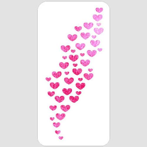 Heart Stream Stencil