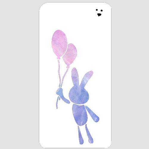 Balloon Bunny Stencil