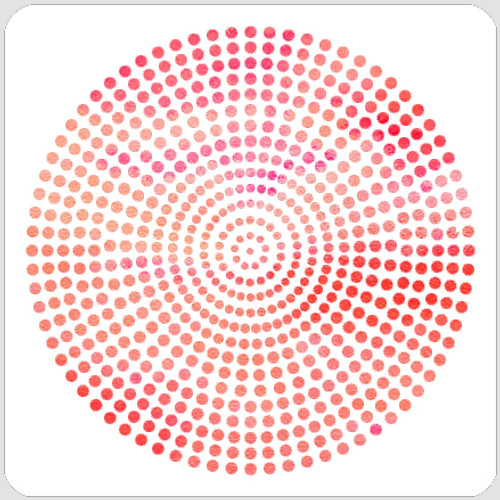 Dot Circle Stencil