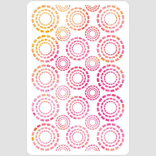 Dashing Circles Stencil
