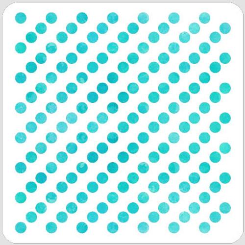 Diagonal Dots Stencil