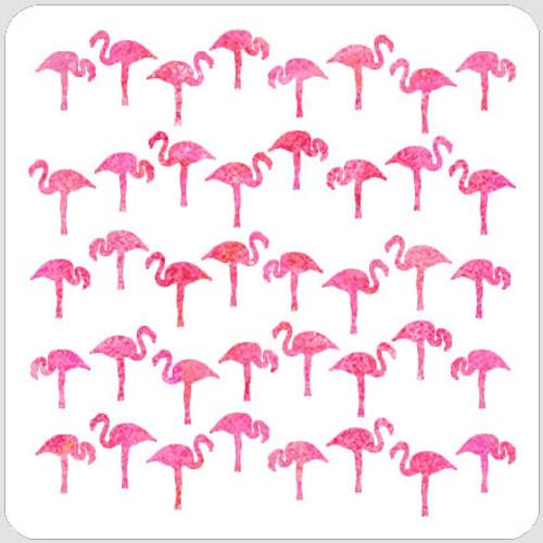 Flamingos Stencil