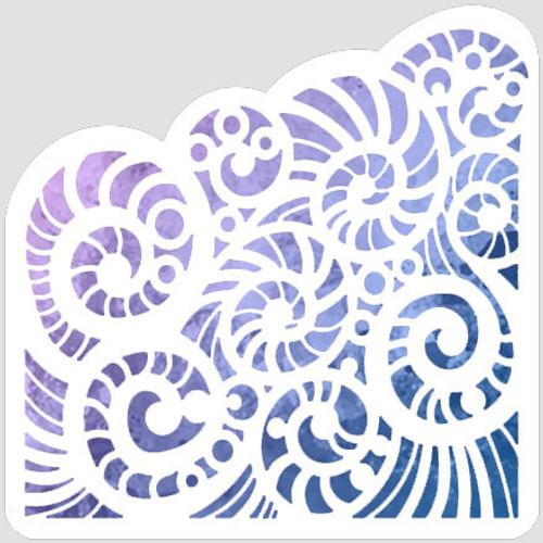 Shell Swirl Stencil