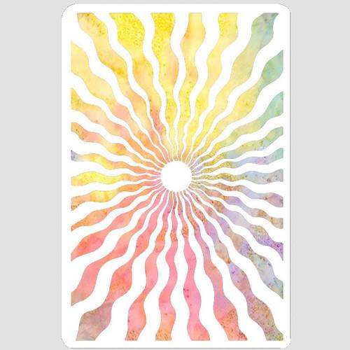 Shimmering Rays Stencil
