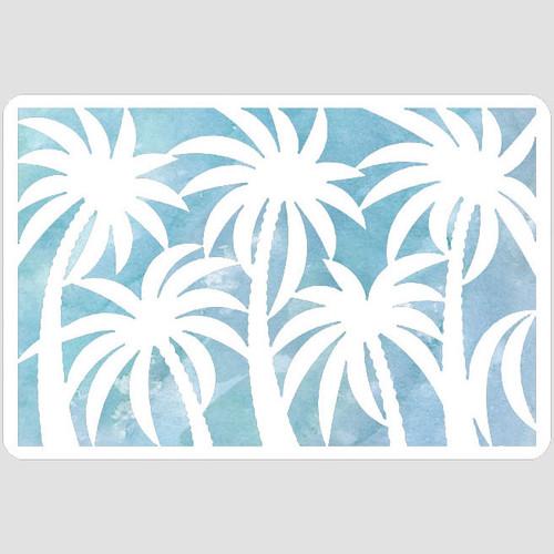 Palm Silhouettes Stencil