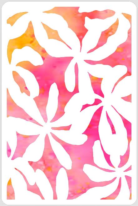 Flower Overlay Stencil