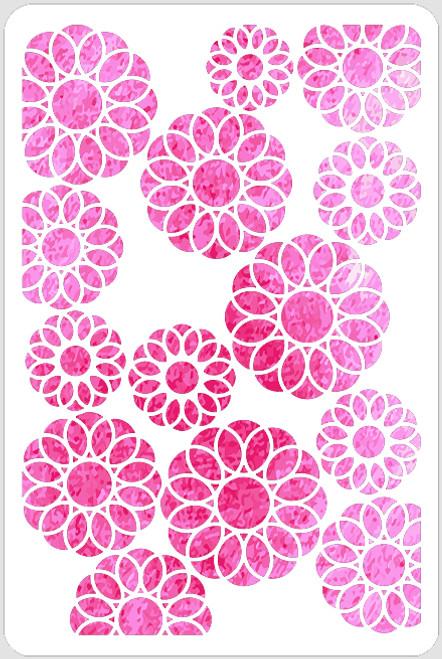 Spiro Flowers Stencil
