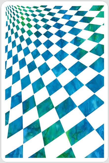 Perspective Checkerboard Stencil