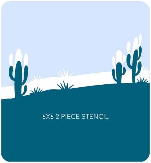 Desert Edger 1 Stencil