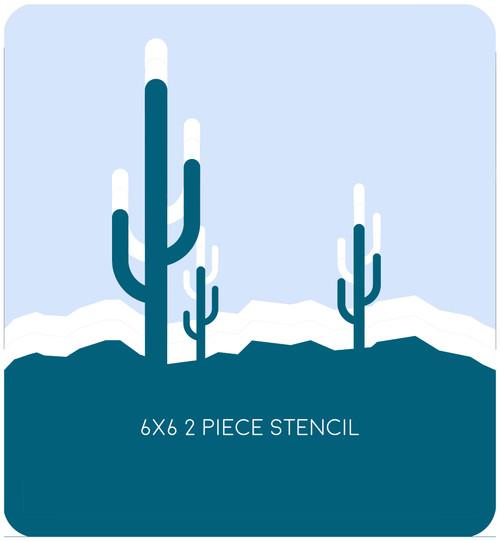 Desert Edger 2 Stencil