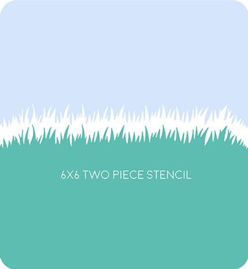 Grass Edger 2 Stencil