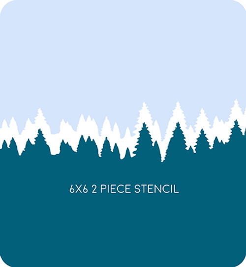 Tree Line Edger 4 Stencil