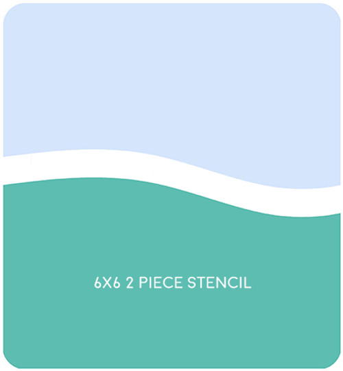 Simple Hill Edger 1 Stencil