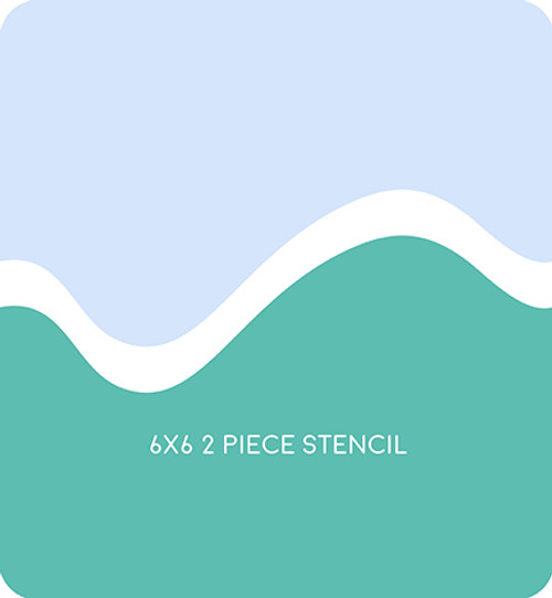 Simple Hill Edger 4 Stencil