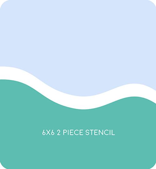 Simple Hill Edger 5 Stencil