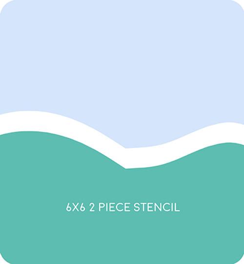Simple Hill Edger 6 Stencil